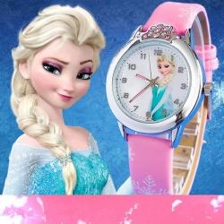 Montre fille Reine des Neiges Elsa et Anna rose