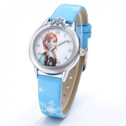 Montre fille Reine des Neiges Elsa et Anna Frozen bleu