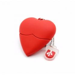 Clé USB en forme de coeur Saint Valentin